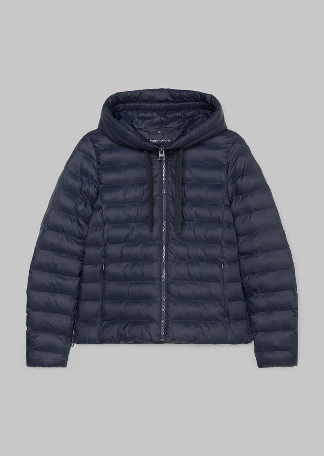 Wasserabweisende No-Down Kapuzen Steppjacke midnight blue