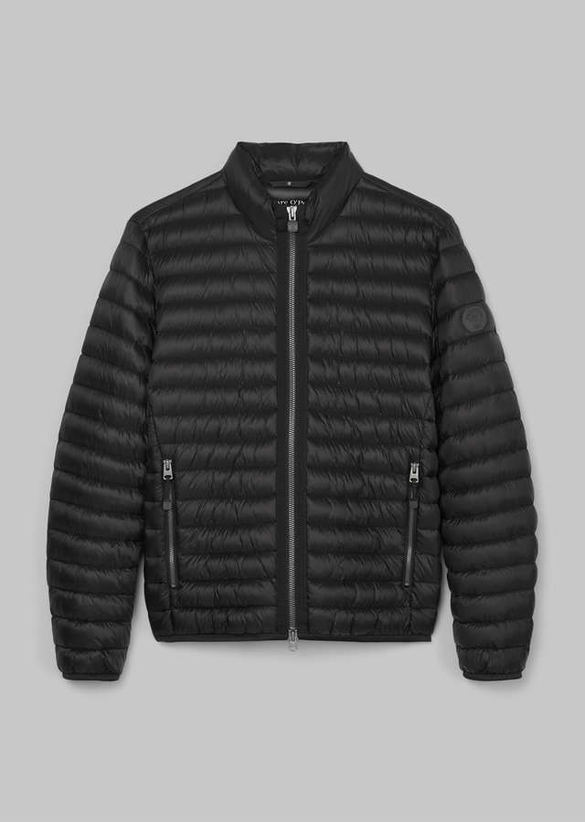 No-Down Steppjacke black